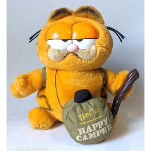 Vintage Garfield Not A Happy Camper Plush